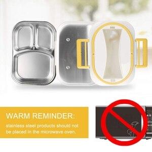 Image 4 - Tragbare Elektrische Mittagessen Box Auto mit 12V Haushalt Elektrische Heizung mit Abnehmbare Edelstahl Behälter Lebensmittel Heizung EU stecker