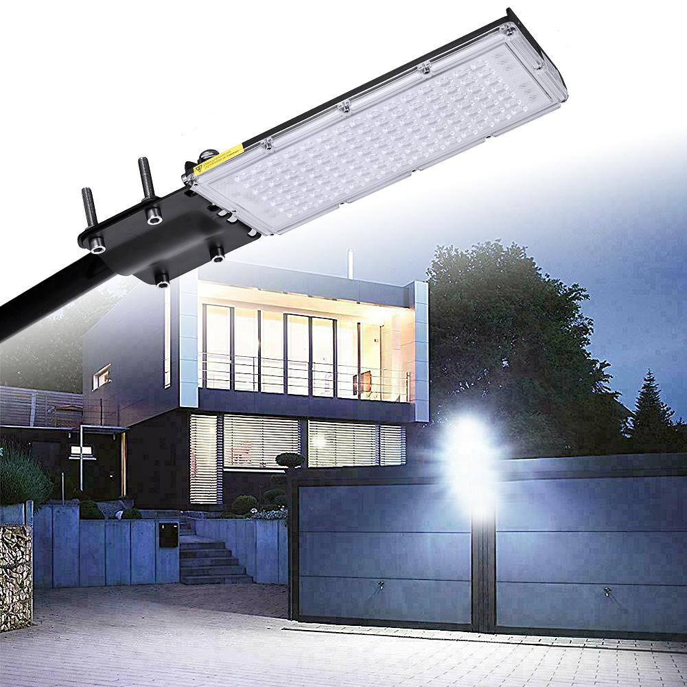 Ultra-thin 100w LED Street Lights Waterproof Module Lamp With Mounting Bracket Outdoor Industrial Path Home Garden Light 220v