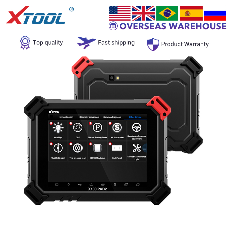 XTOOL X100 PAD2 Key Programmer Auto OBD2 Diagnostic Tool Code Reader Lmmoblizer EEPROM Adapter ABS ECU With Special Function NEW
