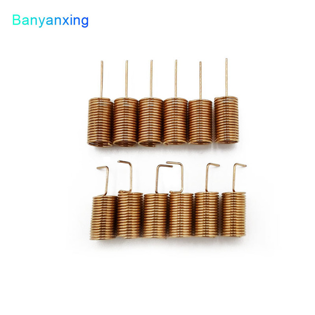 433MHZ Copper Spring Antenna Spiral Coil Antenna Module 433 Built in PCB Welding Antenna Bend/Right Angle