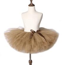 Solid Brown Coffee Baby Girls Tutu Skirt Costume Kids Dance Tutus Fluffy Ballet