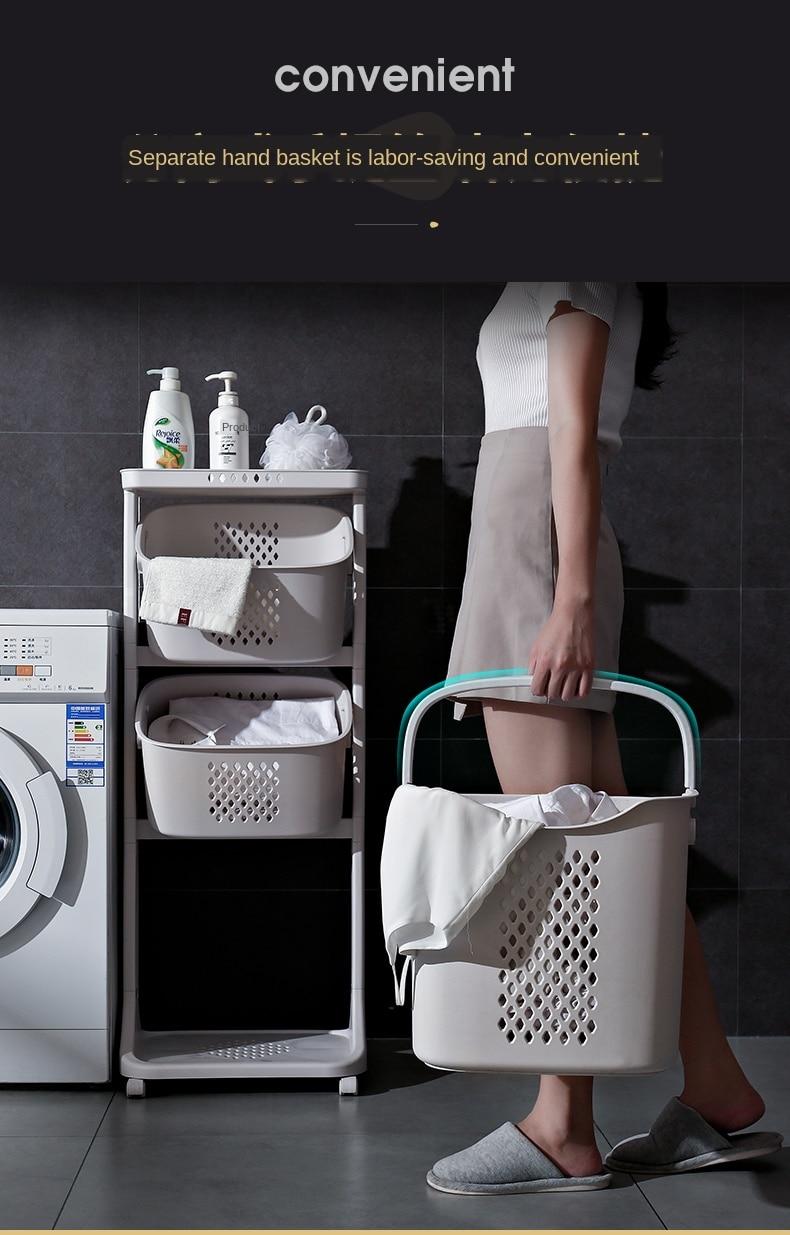 Sujo cesto plástico banheiro higiênico roupas sujas