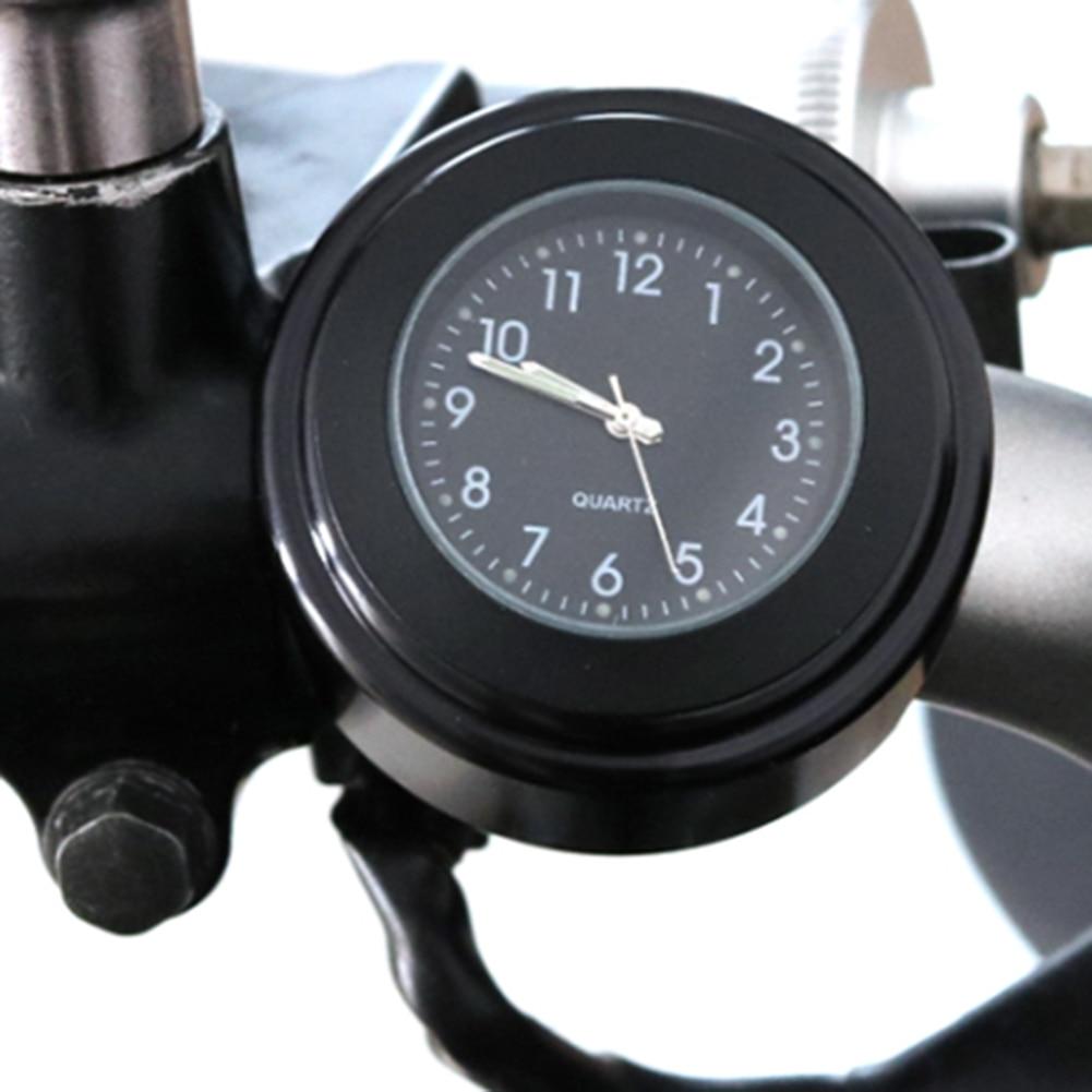 Universal Motorcycle Clock Waterproof 22-25mm Diameter Motorbike Motorcycle Handlebar Clock Mount Watch Luminous Quartz Clock