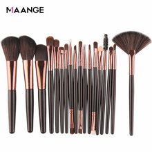MAANGE 6/15/18Pcs Makeup Brushes Set Cosmetics Eye Shadow Powder Foundation Blending Blush Eyeliner Lip Beauty Make up  Kit Tool
