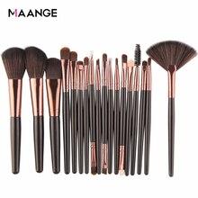 Maange 6/15/18 conjunto de pincéis de maquiagem, 18 unidades, cosméticos, sombra para olhos, pó, mistura fundação blush, delineador de lábio, beleza kit de maquiagem ferramenta