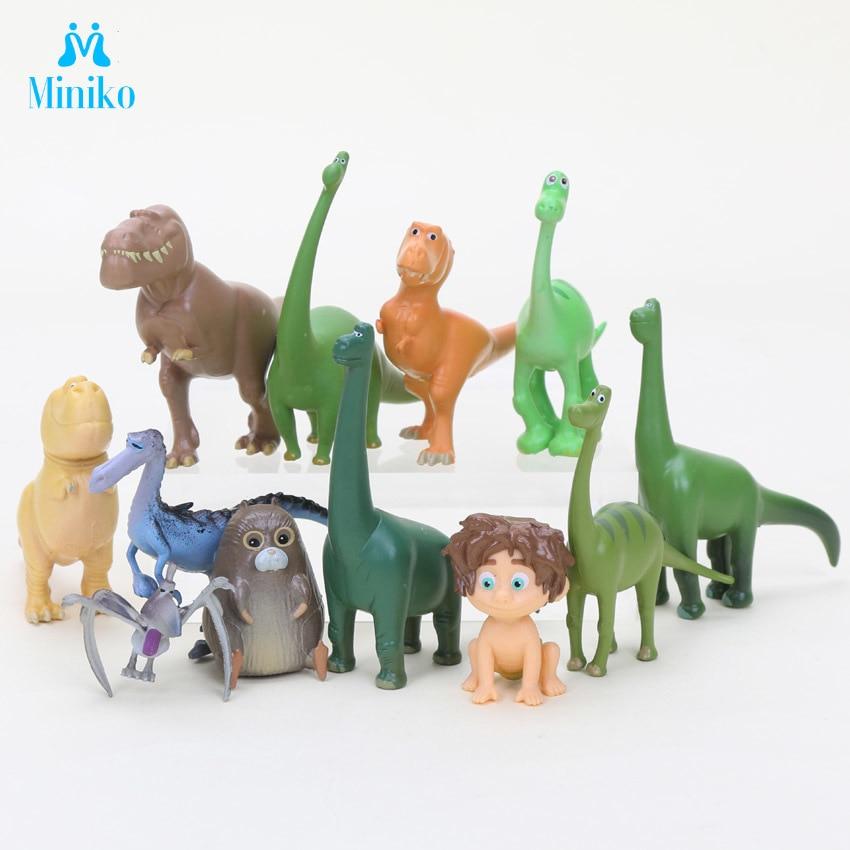 12 шт./лот Arlo Spot хорошие миниатюры ПВХ экшн-фигурки динозавры фильмы фигурки Набор научные хобби детские игрушки