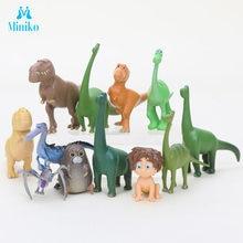 12 pçs/lote Arlo Spot Boa Miniaturas Pvc Figuras de Ação Dinossauros Figurinhas Filme Set Ciência Hobby Brinquedos Dos Miúdos