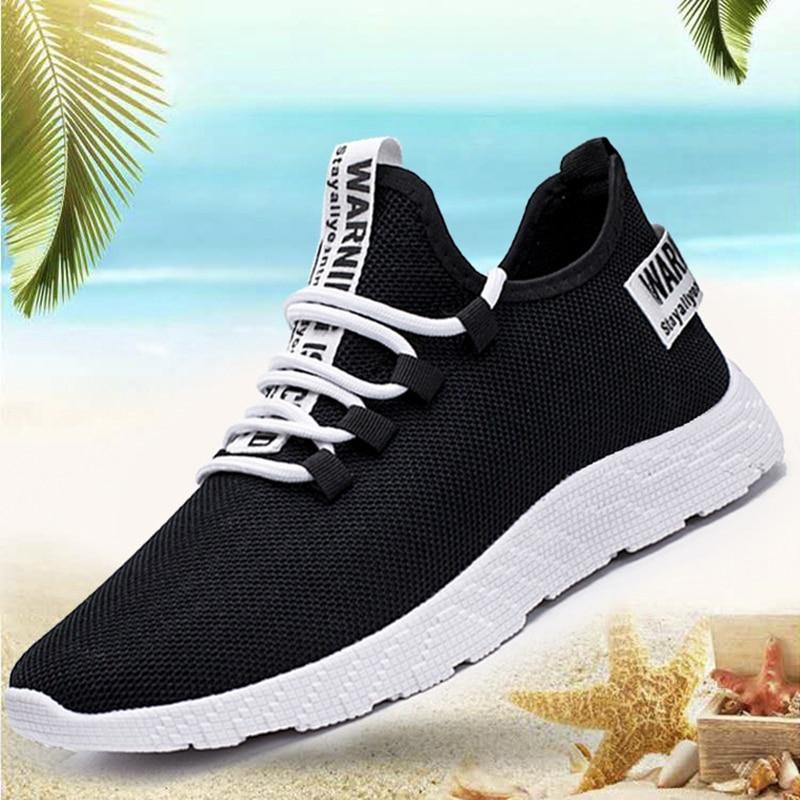 Hc6dbfa9576e94fad89e9172b3f219d85v Men Vulcanize Casual Shoes Sneakers Mens Breathable No-slip Men 2019 Male Air Mesh Lace Up Wear-resistant Shoes Tenis Masculino