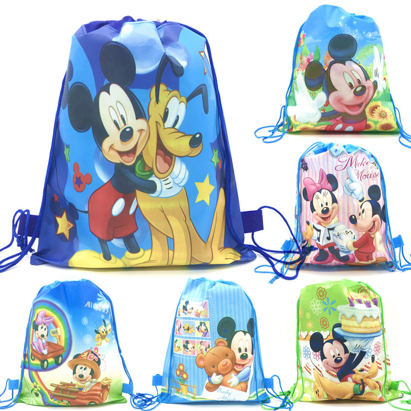 Kids Swimming Bag Drawstring Minnie Mouse Girls School Shoe Party Favour