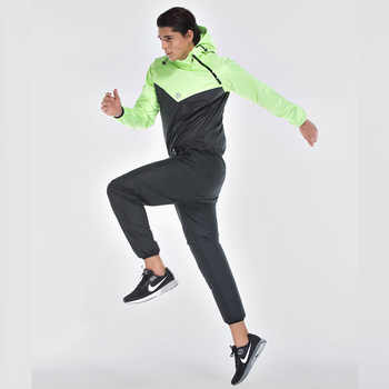 Men Sauna Suit Set Sport Jackets and Pants Suit Quick Dry Hooded Gym Clothing Running Training Boxing Accessories