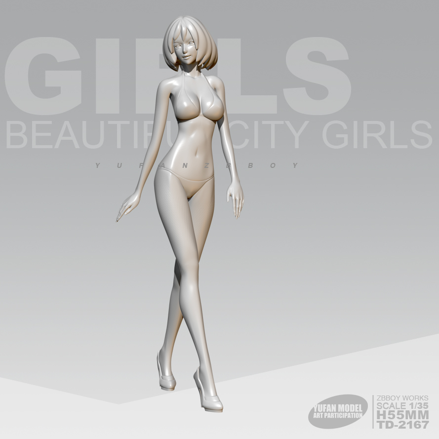 1/24 Resin Figure Kits Beauty Pageant Lady Resin Model Self-assembled 75mm TD-2167
