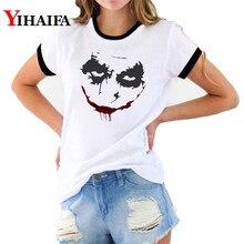 3D T Shirts Women Joker Print Tees Graphic Summer Hip Hop Short Sleeve Halloween White Casual Unisex Tops