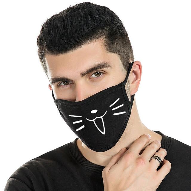 4 pcs Can Choose Colors Dust Mask Cotton Dustproof Anime Cartoon Kpop Mouth Mask for Women Men Black Filtration Muffle Face Mask 1