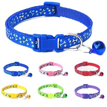 Dog Collar Adjustable Pet Dog Cat Leash Reflective Pet Bell Collar Suitable For Cats And Small Dog Supplies Leash Accessories image