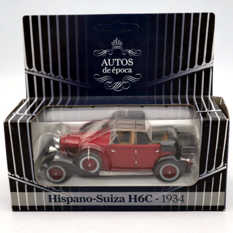 AUTOS De Epoca 1/43 Hispano Suiza H6C 1934 Diecast Models Classic Car Collection Toys