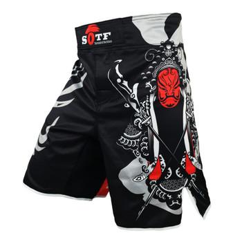 Walki MMA spodenki Muay Thai męska kompleksowe walki szkolenia sztuki walki Taekwondo Running Wrestling odzież Fitness tanie i dobre opinie CN (pochodzenie) Poliester spandex male boxing Sanda Fighting Muay Thai Shorts