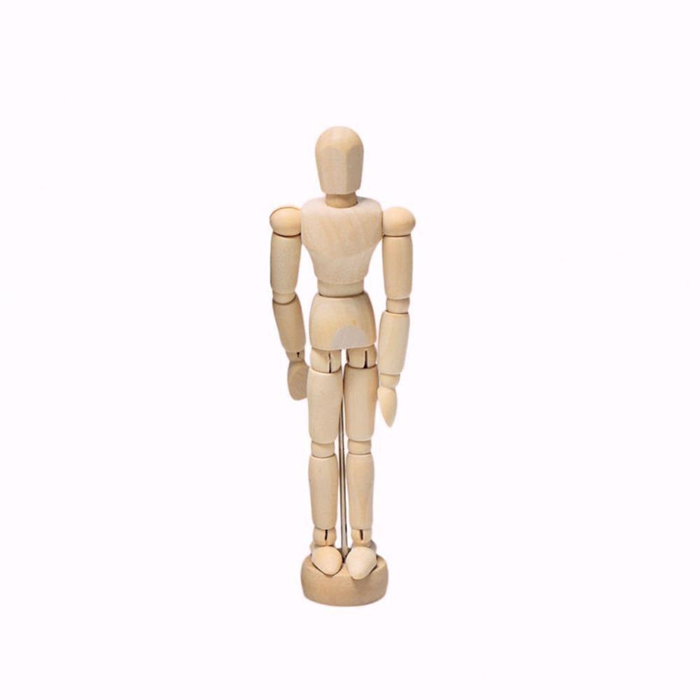 1Pc Artist Movable Limbs Male Wooden Figure Model Mannequin Art Class Sketching