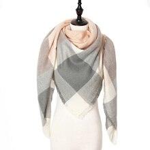 2019 New Fashion Winter Scarf For Women Scarf Luxury Brand Triangle Plaid Warm Cashmere Scarves Blanket