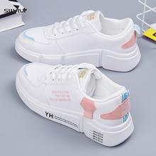 SWYIVY Women Sneakers Shoes Casual Shoes Woman Sneakers Female Lace Up Vulcanized Shoes Thick Bottom Flats Platform Sneakers woman sneakers metallic color woman shoes front lace up woman casual shoes low top rivets embellished platform woman flats brand