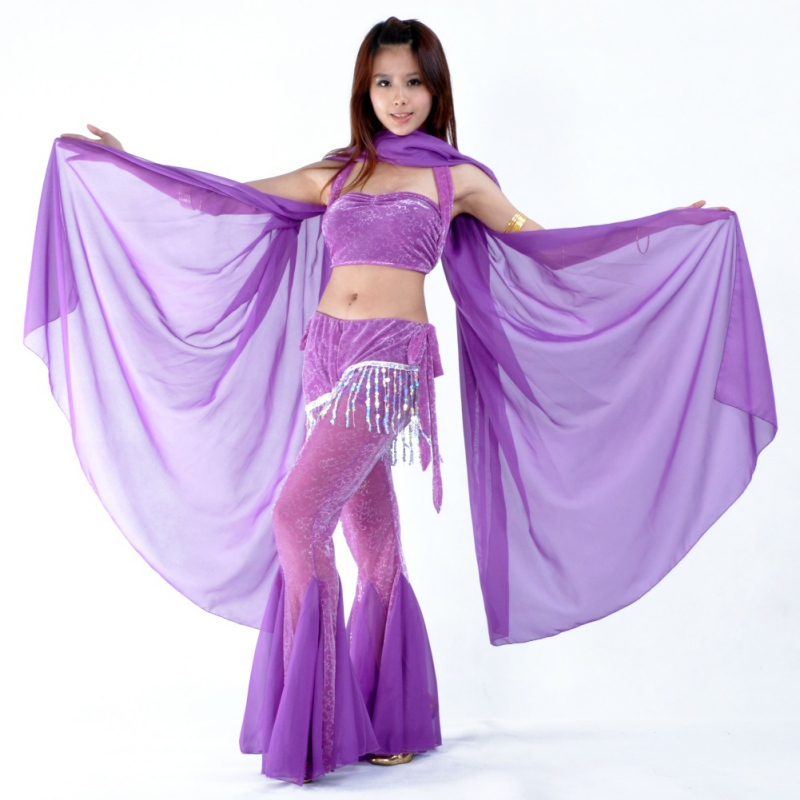 HOT Belly Dance Dancing Costume Chiffon Shawl Veil Scarf Scarves 9 Colors 250*120CM