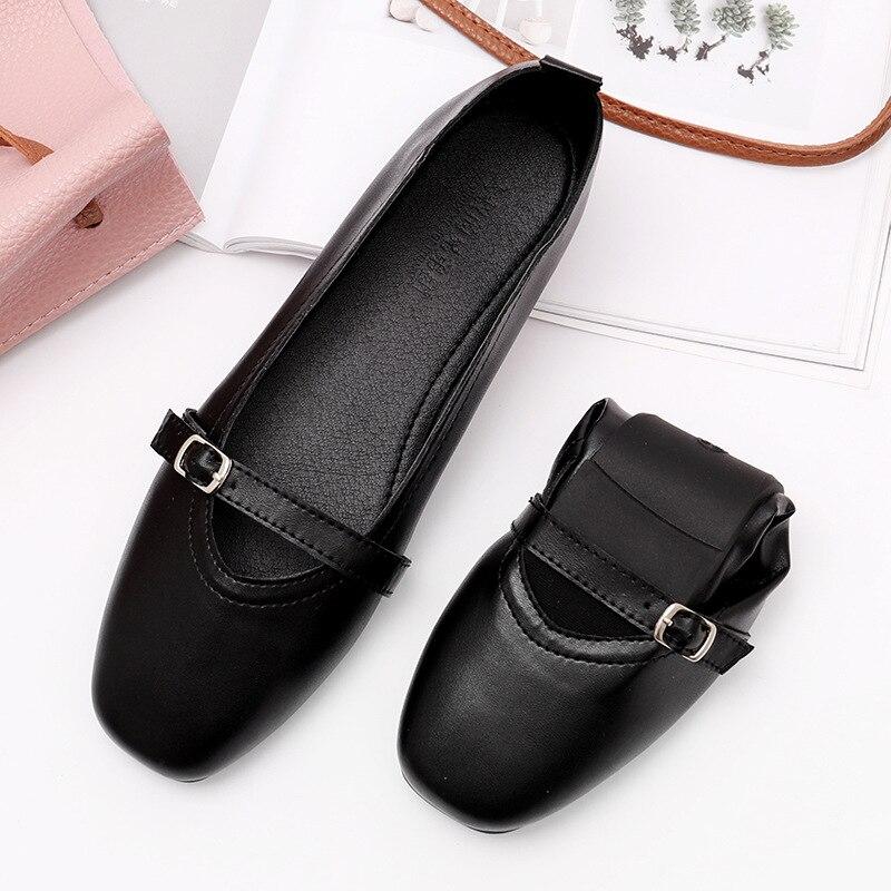 2019 été femmes chaussures plates baskets ballerines oxfords chaussures femmes sans lacet mocassins blanc découpe confort plat bateau chaussures - 4