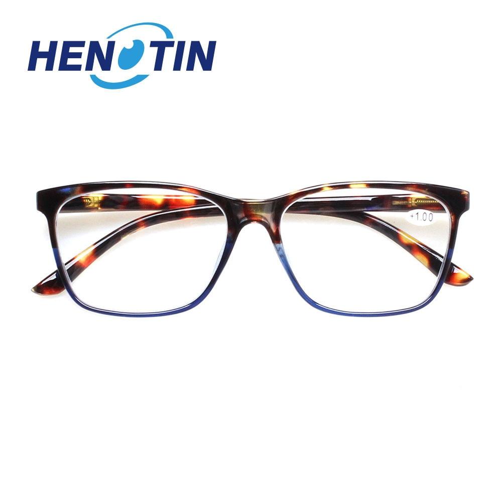 Alla moda rettangolare occhiali da lettura, cerniera a molla, di sesso maschile e femminile lettori di occhiali da vista, occhiali diottrica 0.5 1.75 2.0 3.0 4.0... 2