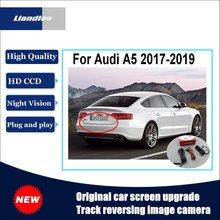 Liandlee Car Track Handle Camera For Audi A5 2017-2019 Original Screen Upgrade Reversing Plug and Play