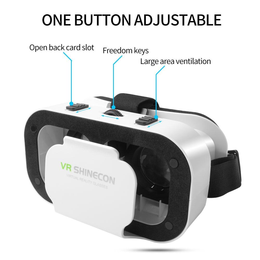 5.0 VR Virtual Glasses Reality 3D VR Glasses Smartphone Box Stereo Headset Helmet For IOS VR Glasses Android Rocker Googles Mini 1