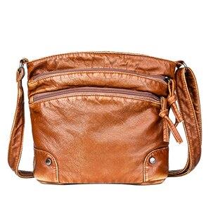 Image 3 - 2020 Quality Women Shoulder Bag Soft leather Purses And Handbags Daily Black Crossbody Bags for Women Designer Messenger Bag