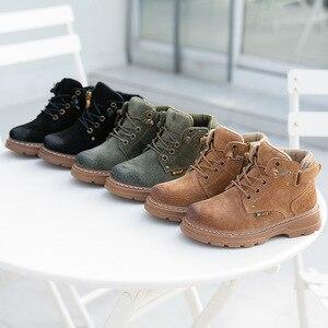 Image 5 - 子供の冬のブーツ 2019 本革子供スニーカー幼児少女の冬靴のファッション豪華な暖かいマーティンブーツ