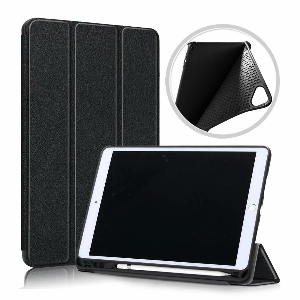 Black Red Ultra Slim Coque For iPad 10 2 2019 Case A2200 A2198 A2232 Smart Magnetic Folding Stand