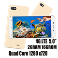 5,0 zoll 2G RAM + 16G ROM 4G LTE Globale Version Smartphones 7A Quad Core 2MP + 5MP HD Vorne/Zurück Android 6,0 Handys Celuares