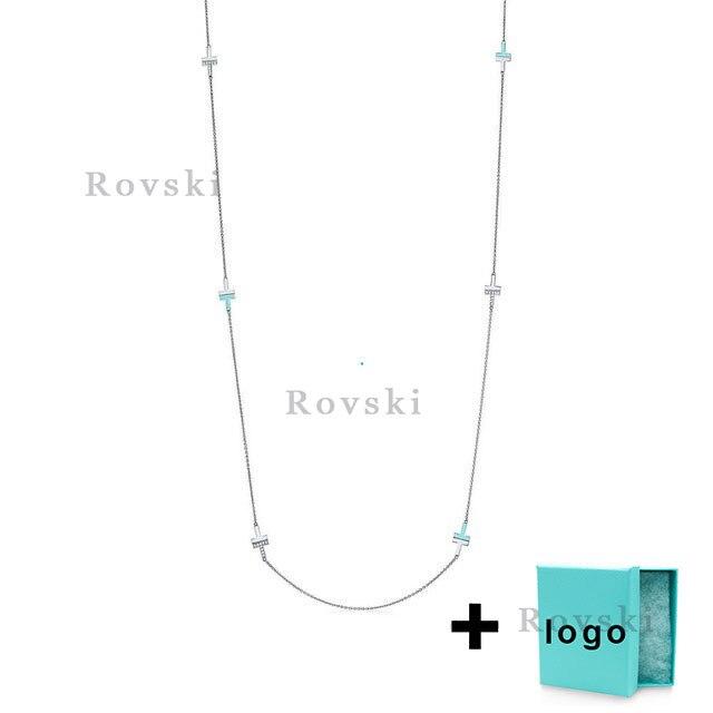 Xl tfx rllen en argent sterling mode T collier est parfait pour dames fête bijoux en gros livraison gratuite.