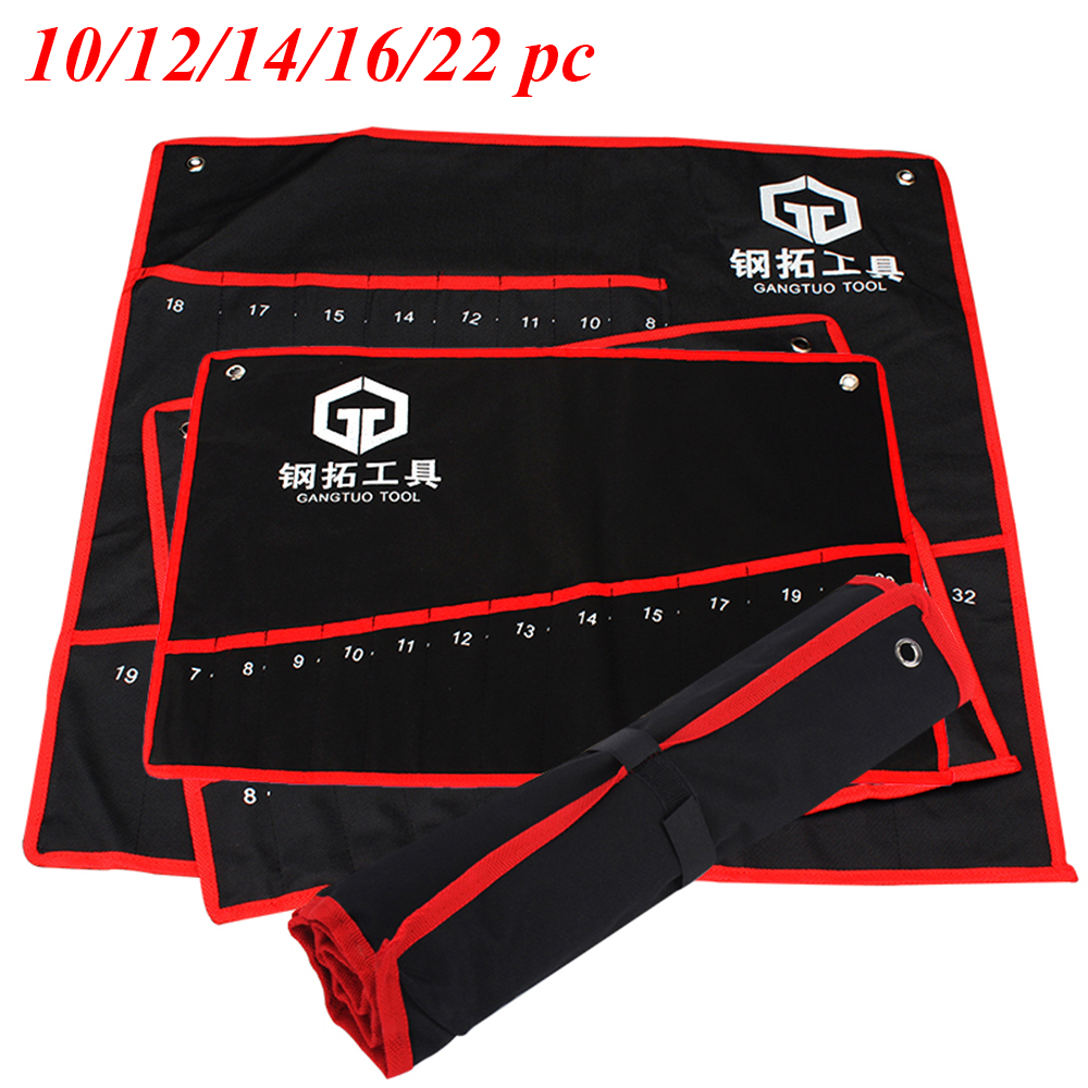practical-canvas-wrench-tool-bag-storage-roll-up-foldable-spanner-organizer-pouch-case-hand-tools-bags-10-12-14-16-22-pcs