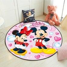 Disney с Микки Маусом и Минни Маус Дети Детские наколенники для ползания игровой коврик круглый ковер для гостинной и внутреннего добро из мяг...