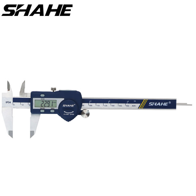 IP54 Waterproof 150 mm Electronic Vernier Caliper Micrometer Electronic Caliper Stainless Steel Messschieber Paquimetro Digital