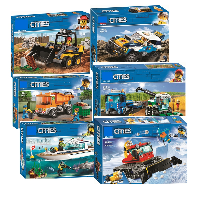2019 City Series Vehicles 60220/60221/60222/60223 Building Blocks For Kids Christmas Gift Children Education Toys