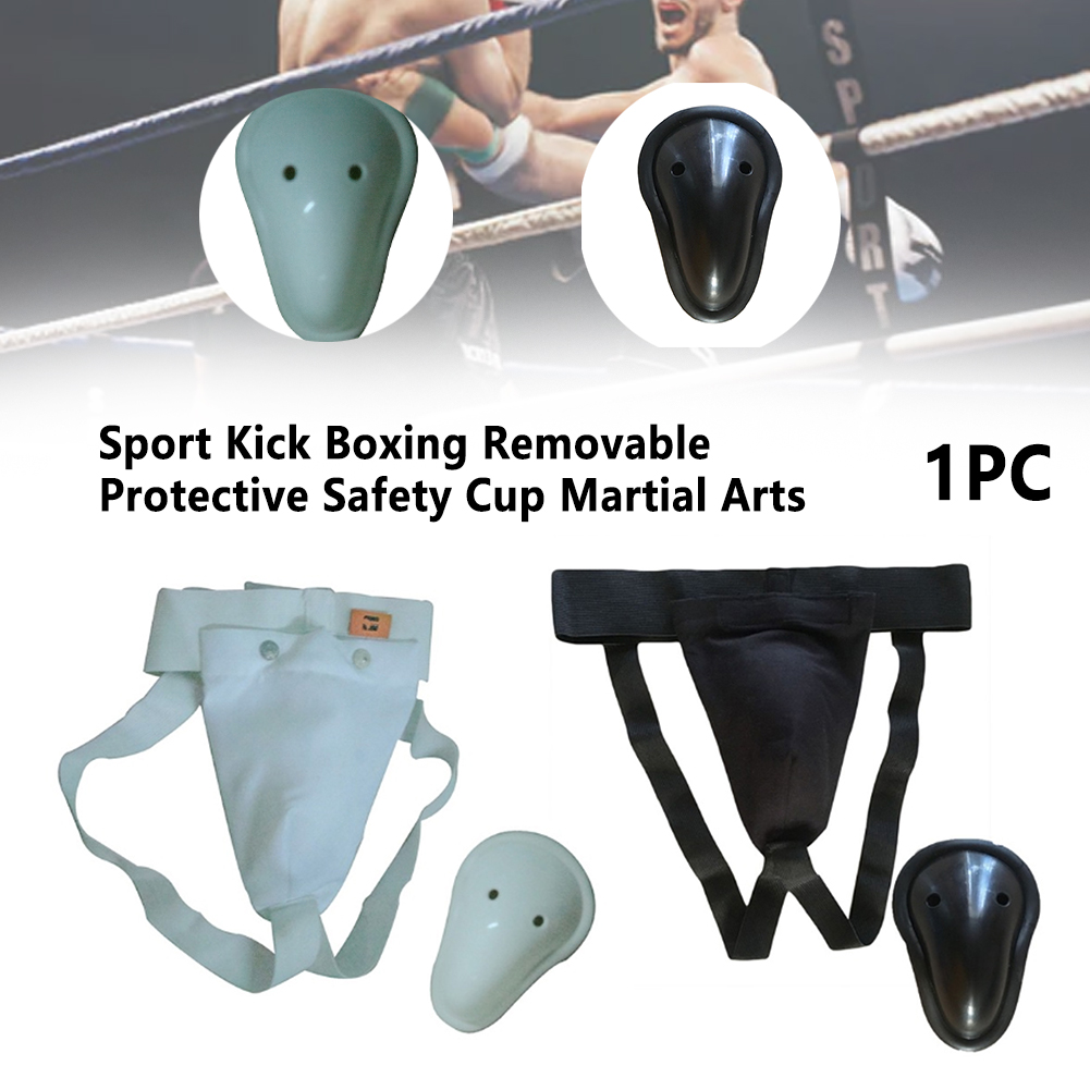 Martial Arts Elastic Band Adult Removable Kick Boxing Portable Groin Guard Professional Training Protective Safety Cup Crotch