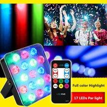 DJ laser RGB stage light projector LED effect lamp disco Christmas holiday bar lighting party indoor lamp remote 17 LED Par lamp