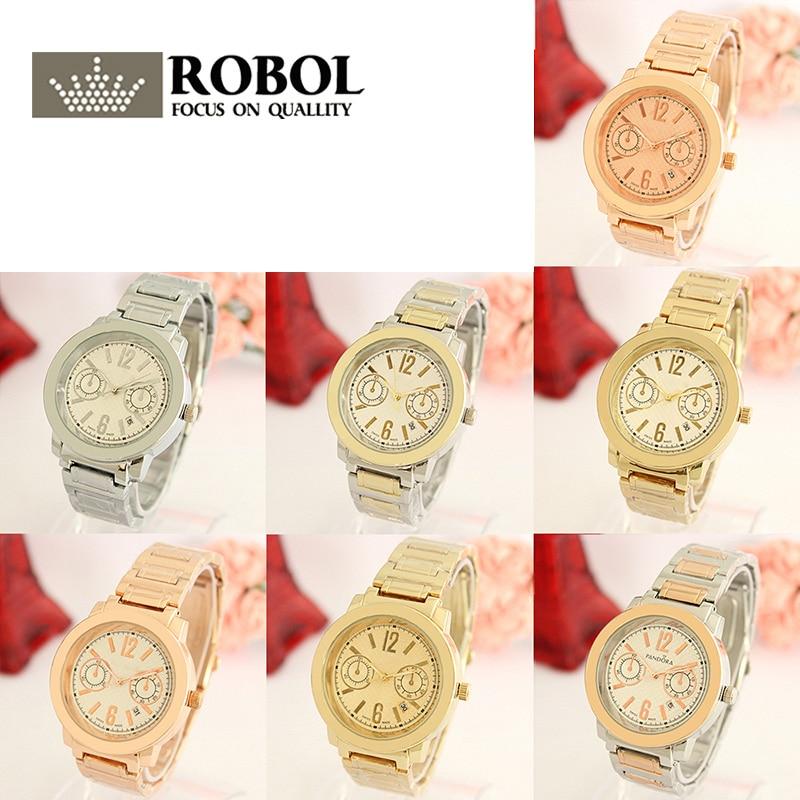 RLLEN Stainless Steel Men Women Couples Quartz Watches Fashion Luxury Jewelry Gift Exquisite Retro Noble Precision