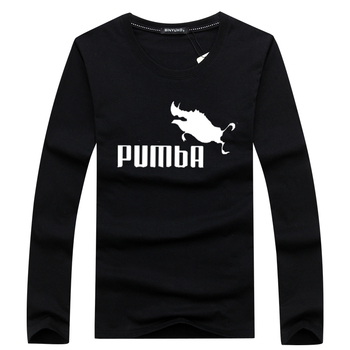 Funny Tee Cute Long Sleeve T Shirts Homme Pumba Men Short Sleeves Cotton Tops Cool Shirt Summer Jersey Costume Fashion T-shirt - discount item  5% OFF Tops & Tees