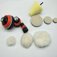 1-3 polegada carro automático almofada de polimento polimento esponja mão ferramenta kit para polidor de carro composto polimento broca adaptador m14 ferramenta elétrica