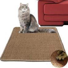 Когтеточка для кошек из натурального сизаля коврик царапин 30*40
