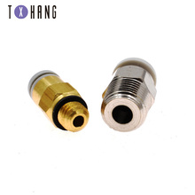 3D Large Silver And Small Gold Direct Pneumatic Connectors 3D printer Parts for 3D printer Extruder