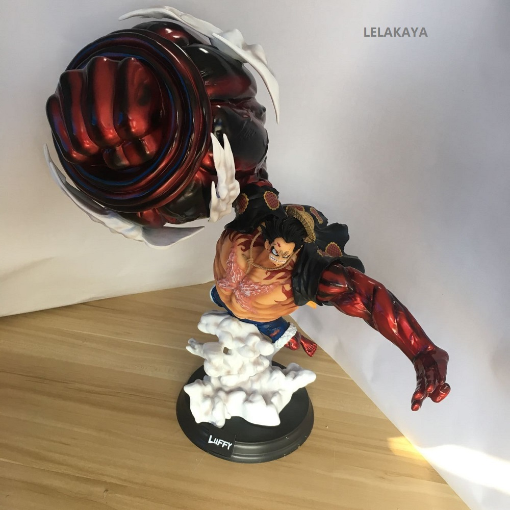 1PCS 39CM Anime One Piece Gear Fourth Bound Man Monkey D Luffy Large Statue 1/8 Scale PVC Action Figure Collectable Model Toys
