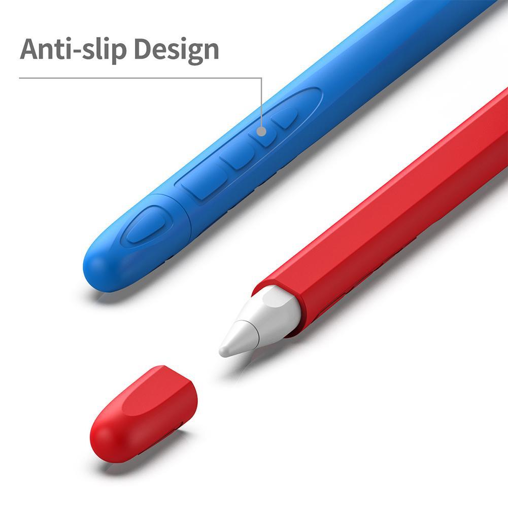 Anti-slip Cap Pen Case For Apple I-Pad Pencil 2 Silicone Cap Pen Stylus Case