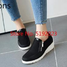 Women Designer Sneakers Women 2019 Fashion Zipper Low Heel