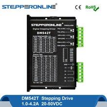 DM542T cyfrowy sterownik silnika krokowego 2 silnik krokowy napęd 1.0 4.2A 20 50VDC Nema 17,23, 24 silnik krokowy cnc