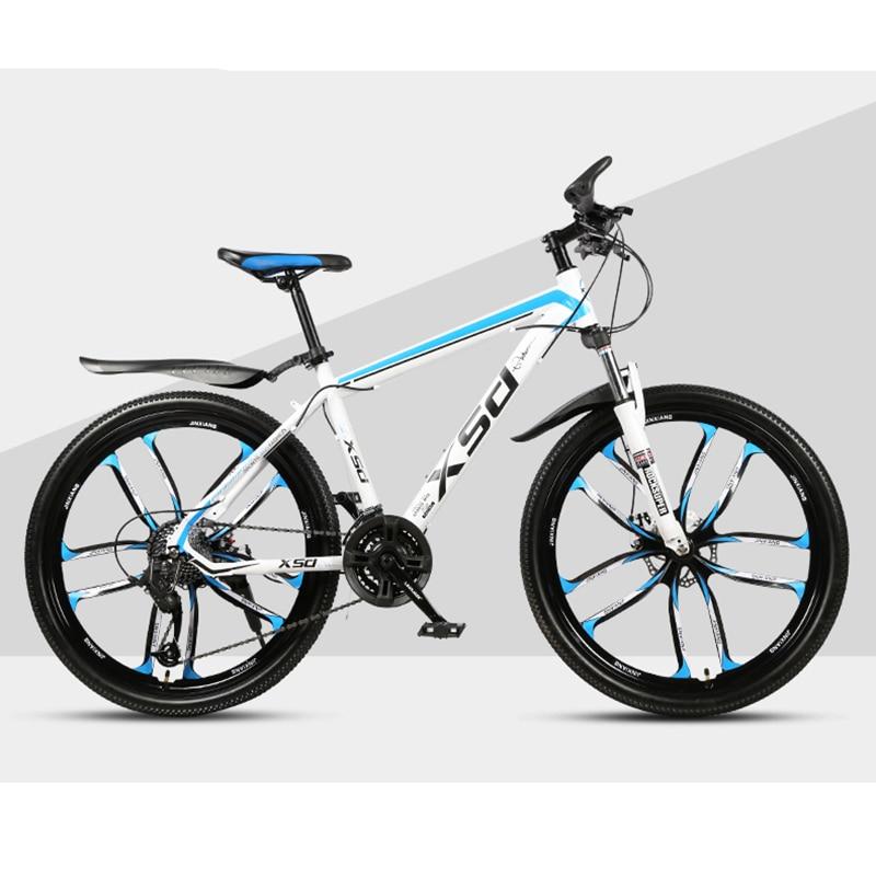 26-Inch 21/24/27/30Speed Mountain Bicycle Shock Absorption Speed Change Mechanical Disc Brake StudentAdult Ten Knives Wheel Bike
