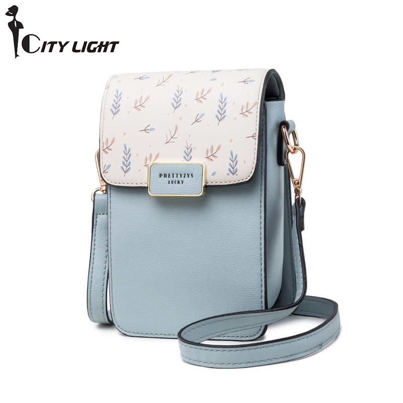 Brand New Wild Women Shoulder Messenger Bags Fashion Mobile Phone Package Female INS Mini Printing Flap Small Bag
